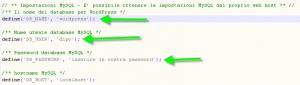modifica file config-sample